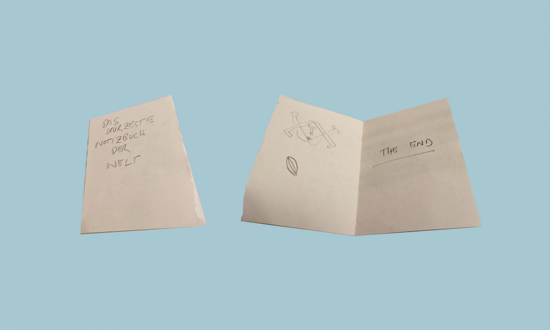 Das kürzeste Notizbuch der Welt
